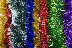 Tinsel. Background. new year's decoration Stock Photo