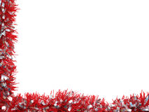 Tinsel borders collection Royalty Free Stock Images