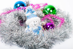 Tinsel Christmas ball Stock Image