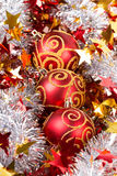 Tinsel Christmas ball Royalty Free Stock Images