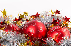 Tinsel Christmas ball Stock Photos