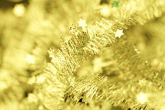 Tinsel. Christmas decoration. Royalty Free Stock Photography