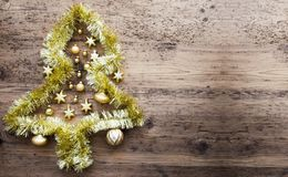 Tinsel Christmas Tree, Kopien-Raum Stockbild