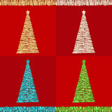 Tinsel Christmas trees Royalty Free Stock Photography