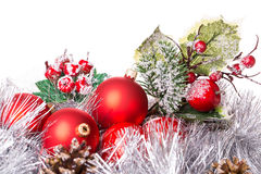 Tinsel cristmas ball Stock Photo