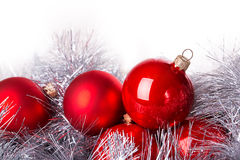 Tinsel cristmas ball Stock Photography