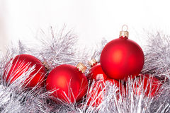 Tinsel cristmas ball Royalty Free Stock Photo