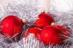 Tinsel cristmas ball Royalty Free Stock Image