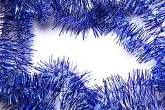 Tinsel frame Stock Photography