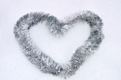 Tinsel heart Royalty Free Stock Photo