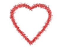 Tinsel love heart frame, border Stock Image