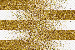 Tinsel Square Particles Vector Background brillante de oro stock de ilustración
