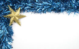 Tinsel and Star Christmas Decorations Stock Photography