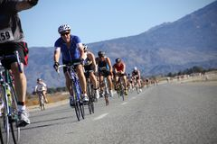 Tinsel Triathlon Bike route royalty free stock images