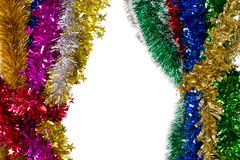 Tinsels of different colours. Royalty Free Stock Photo