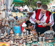 Tinsmith on Festival Rozhen in Bulgaria Royalty Free Stock Photos