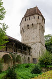 Tinsmiths' Tower and Musketeers' Passage in Sighisoara, Romania stock images