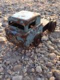 Tinstuk speelgoed vrachtwagen Stock Foto