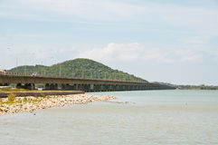 Tinsulanonda  bridge. Tinsulanonda  long  bridge kohyor songkhla Stock Photo