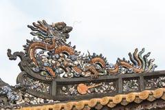 Tint, Vietnam - 22 Januari 2015: Dak bij Keizerstad (Unesco-Wereld H Royalty-vrije Stock Foto
