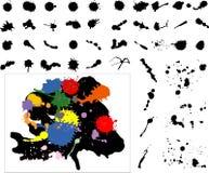 A tinta altamente detalhada espirra Ilustração do Vetor