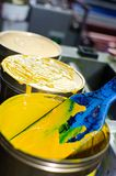Tinta amarela Imagem de Stock Royalty Free