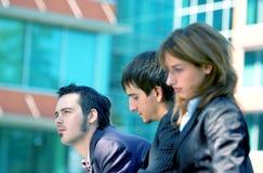 Tinta blu 2 del trio di affari Fotografia Stock