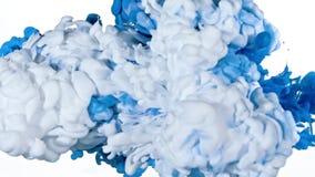 Tinta branca e azul na água Imagens de Stock