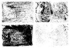 A tinta chapinha as texturas afligidas grunge ajustadas Elementos do projeto da textura do curso da escova do esboço ilustração royalty free