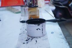 Tinta china de la caligrafía Foto de archivo libre de regalías