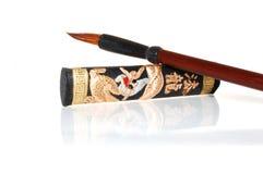 Tinta chinesa dos hieroglyphics Fotografia de Stock Royalty Free
