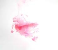 Tinta colorida na água abstraia o fundo Cor do fumo fotos de stock