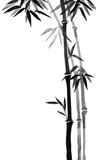 Tinta de bambu das árvores no sumi-e japonês tradicional do estilo da pintura Imagens de Stock Royalty Free