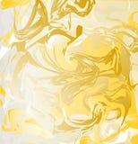 Tinta do ouro, textura da aquarela Imagens de Stock Royalty Free