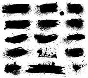 A tinta espirra no fundo branco Manchas, manchas da escova ilustração royalty free