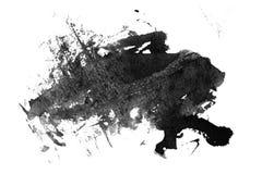 Tinta negra manchada en blanco Fotos de archivo libres de regalías