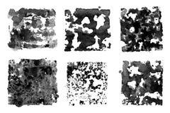 Tinta preta das manchas Fotos de Stock