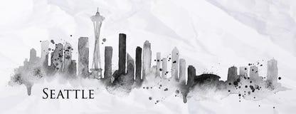 Tinta Seattle de la silueta Foto de archivo