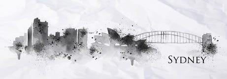 Tinta Sydney de la silueta Imagen de archivo libre de regalías