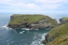 Tintagel海岛 图库摄影