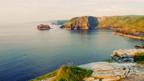 Tintagel海岸线 库存图片