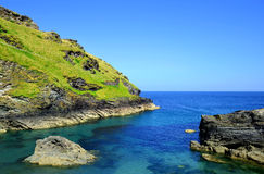 Tintagel bay Royalty Free Stock Images