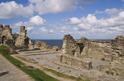 Tintagel Castle ruins Stock Photo
