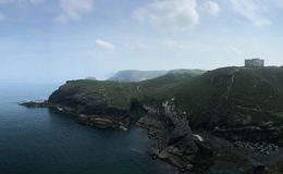 Tintagel Castle. Vicinities of the Tintagel Castle Stock Image