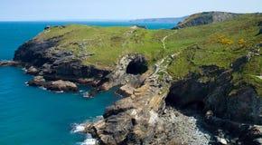 Tintagel Coastline Royalty Free Stock Photography
