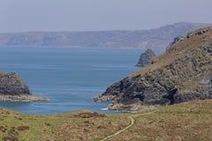 Tintagel in Cornwall Lizenzfreies Stockfoto