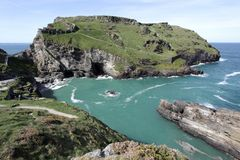 Tintagel in Cornwall England Stock Photography