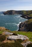 Tintagel in Cornwall England Royalty Free Stock Photo