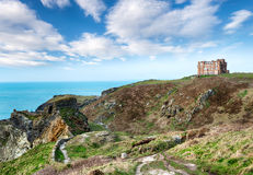 Tintagel in Cornwall Royalty Free Stock Images