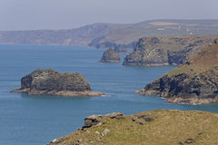 Tintagel in Cornwall. Steep cliffs at Tintagel on the north coast of Cornwall Royalty Free Stock Photo